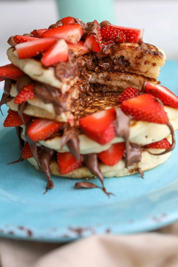nutella filled pancakes
