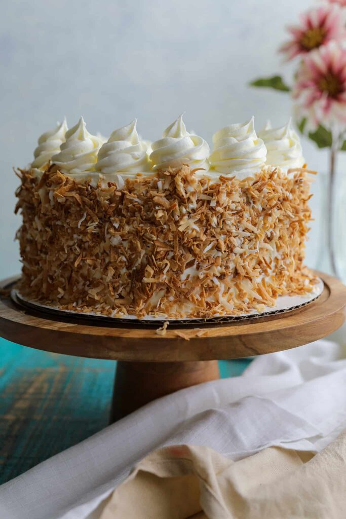 coconut dulce de leche cake